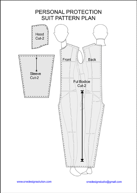DIY Pattern Plan Personal Protection Suit